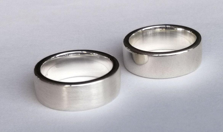 srebrna obrączka gruba